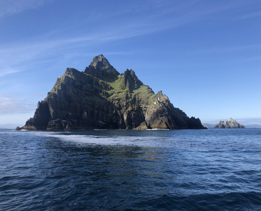 Skellig Michael and little Skellig viewed from Skellig michael tour boat Skellig Star